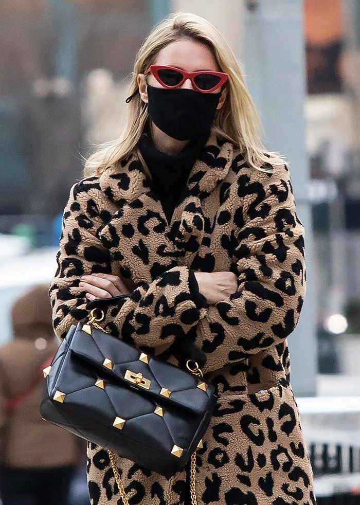 Nicky Hilton adds a touch of retro to her look with Le Specs x Adam Selman cat-eye sunglasses