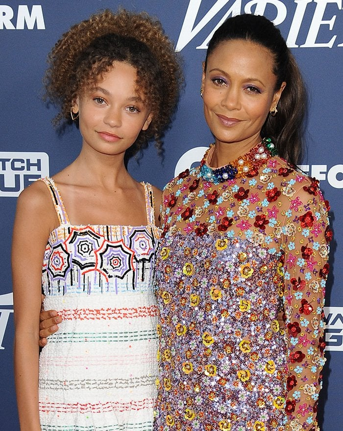 Nico Parker is her mother Thandie Newton's younger version at the 2019 Variety's Power of Young Hollywood