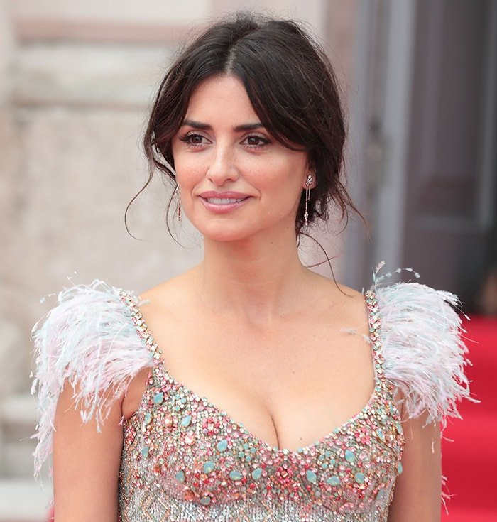 Penelope Cruz looks beautiful with her cleavage on display in Ralph & Russo dress at the Pain and Glory UK premiere on August 8, 2019