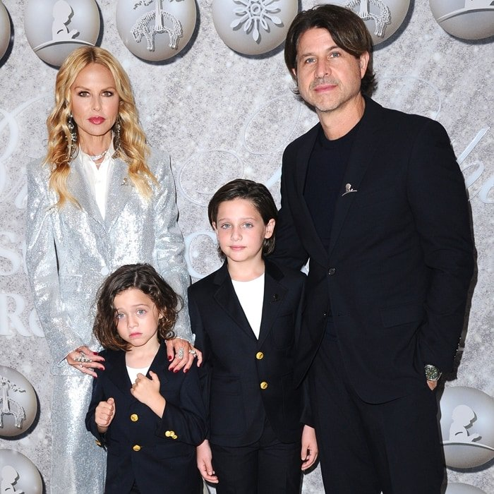 Rachel Zoe with her husband Rodger Berman and her sons Kaius Jagger Berman and Skyler Morrison Berman