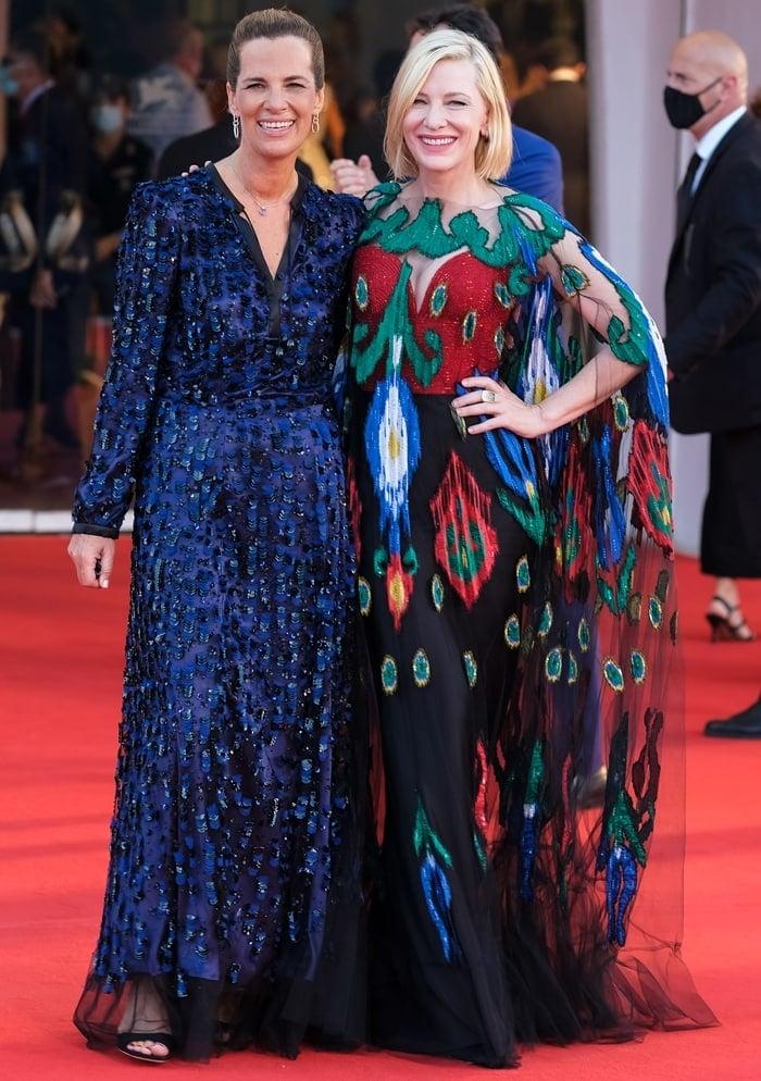 Roberta Armani and Venezia77 Jury President Cate Blanchett walks the red carpet ahead of the closing ceremony at the 77th Venice Film Festival