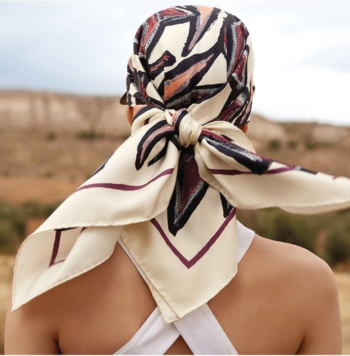 Salvatore Ferragamo's silk scarves have a delicate finish and a luxurious style