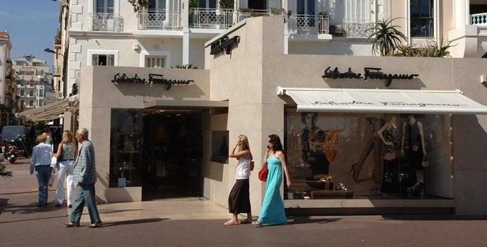 The Salvatore Ferragamo store on 40 Boulevard de la Croisette in Cannes, France