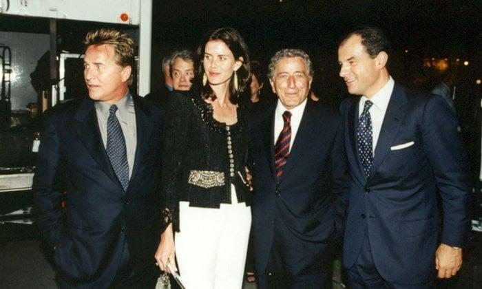 Don Johnson, Kelley Phleger, Tony Bennett, and Massimo Ferragamo at the opening of Salvatore Ferragamo store in San Francisco