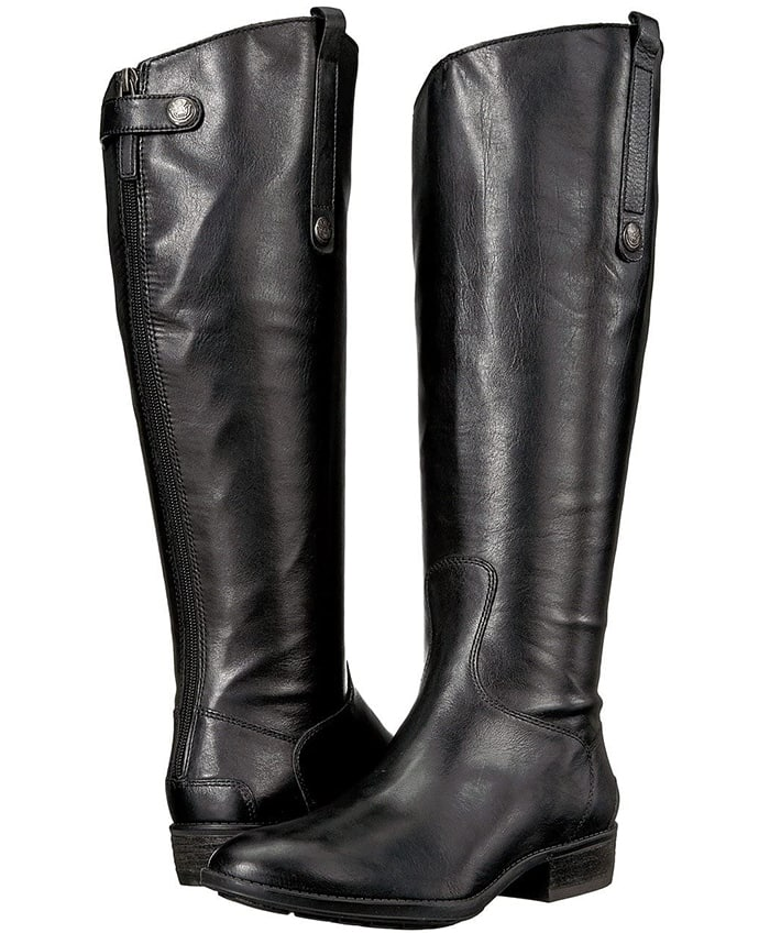 You'll look stunning in these fashionable Penny wide calf boots by Sam Edelman