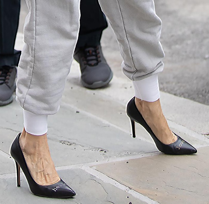 Sarah Jessica Parker slips into a pair of Hello Lover pumps
