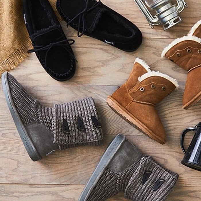 Save on cozy Bearpaw slippers and shoes for children, men, and women at Zulily