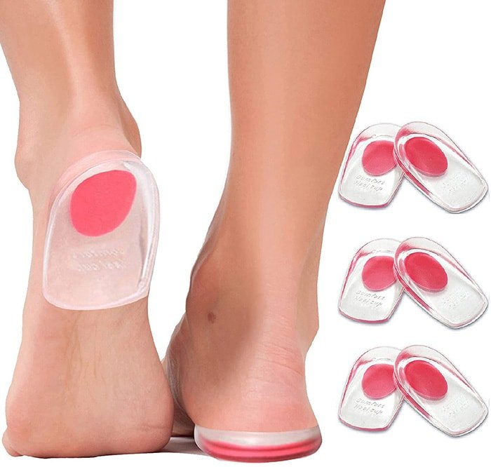 Use gel heel cups for planters fasciitis and foot pain