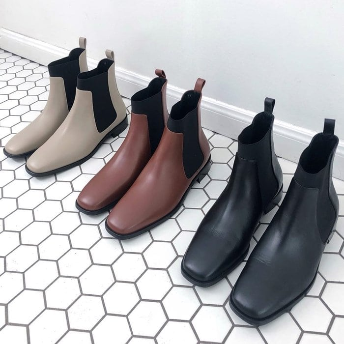 The timeless Chelsea boot—with a cool square toe