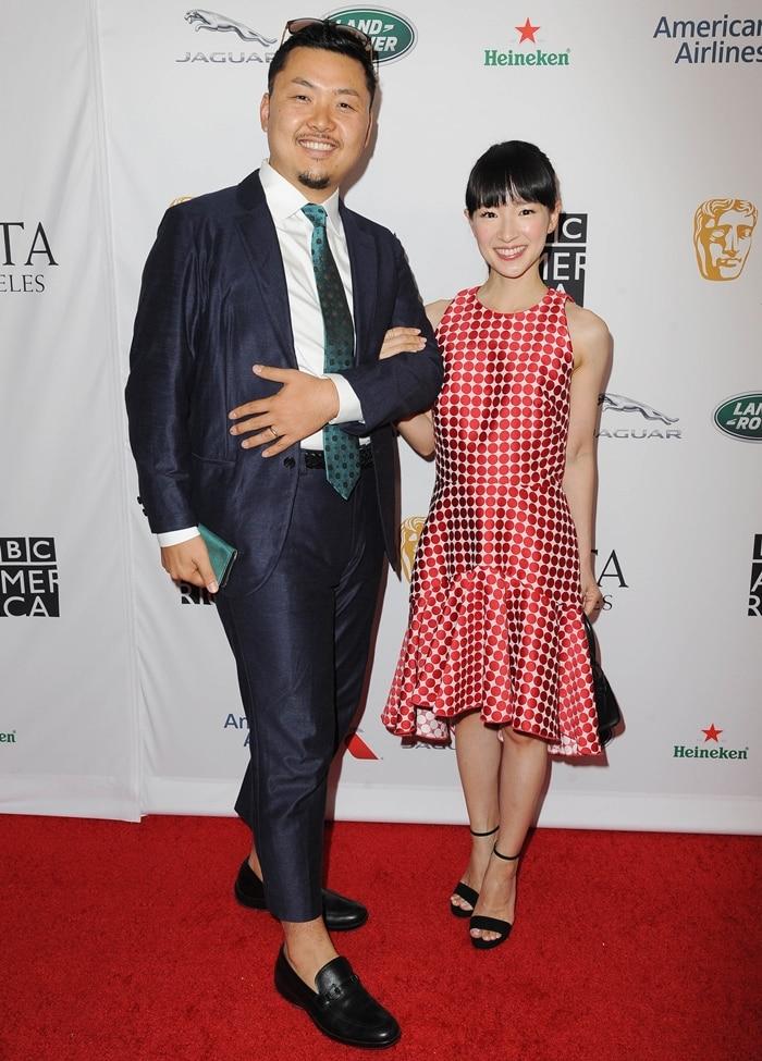 Takumi Kawahara and his wife Marie Kondo