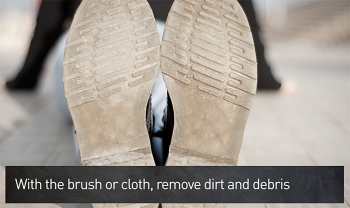 Use a soft cloth or a brush to clean loose dirt and debris