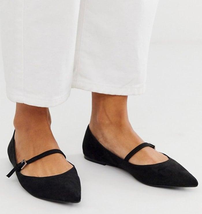 ASOS Mary Jane ballet flats in black