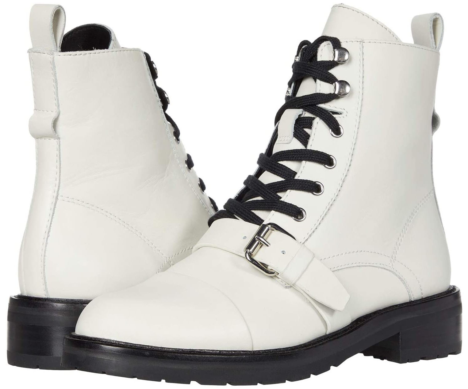 The Donita boots are available in different colorways, including the chic black-and-white version