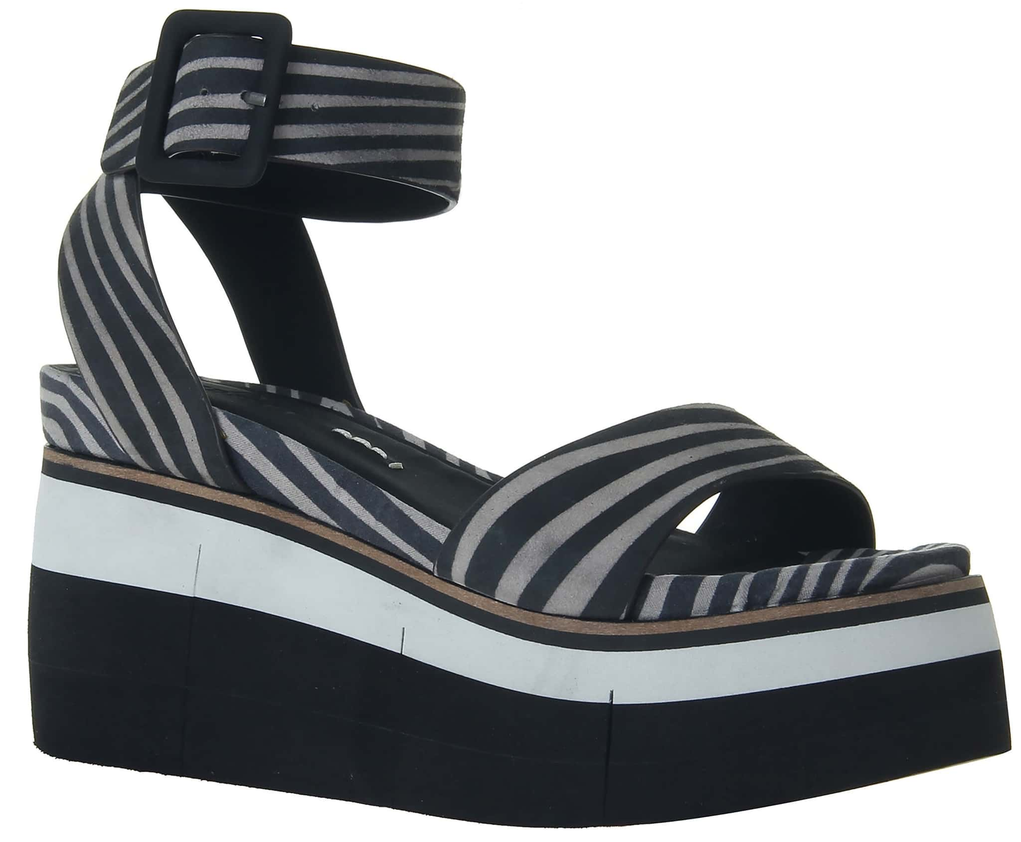 Altezza in zebra print is a wildly sophisticated, sporty platform wedge reaching entirely new heights