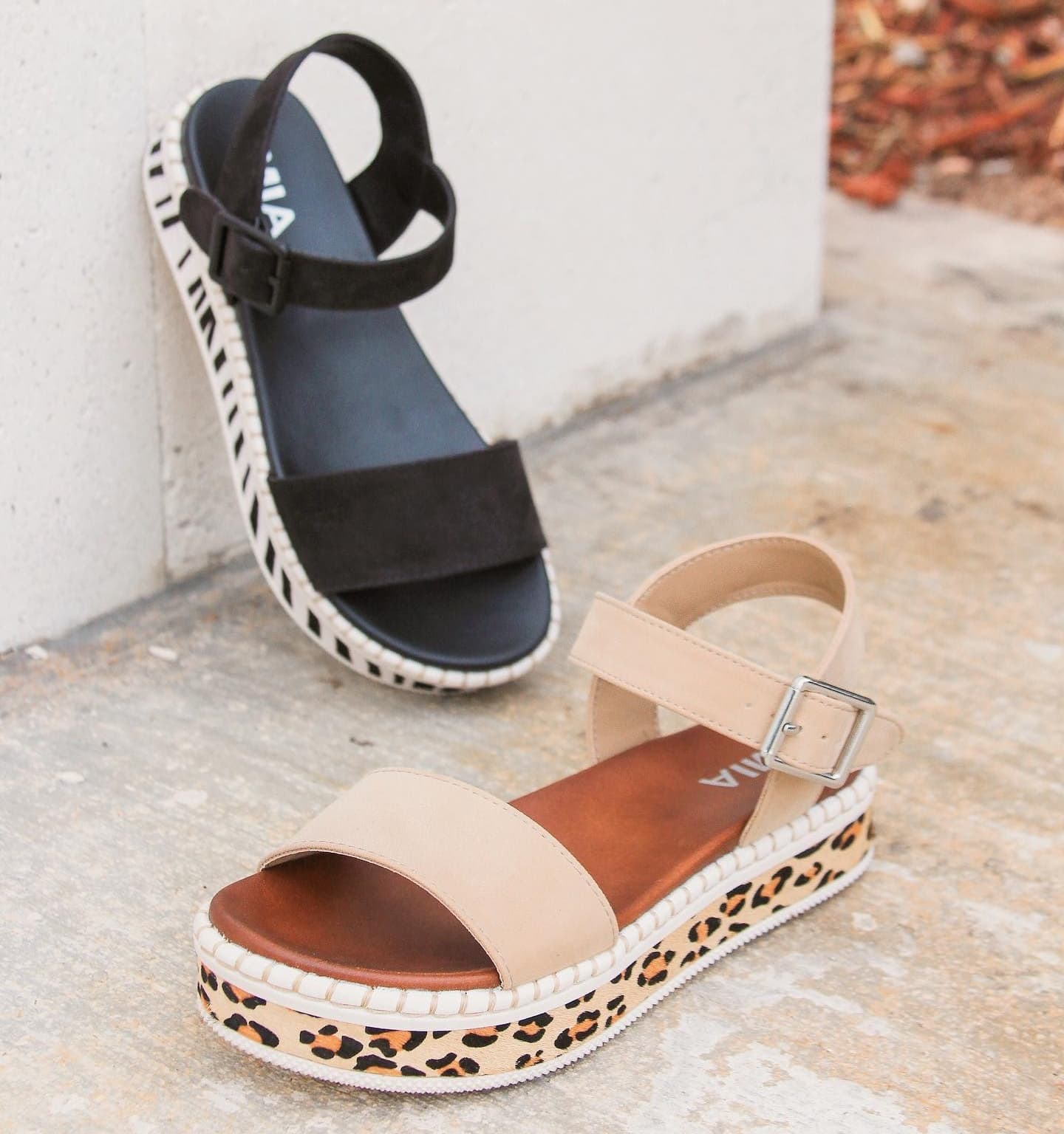 This espadrille-style sandal from MIA features an adjustable ankle strap, an over-the-toes strap, and a comfortable footbed