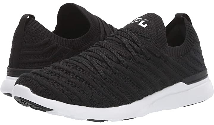 The APL TechLoom Wave can transform into a slip-on style shoe with removable laces and a seamless upper