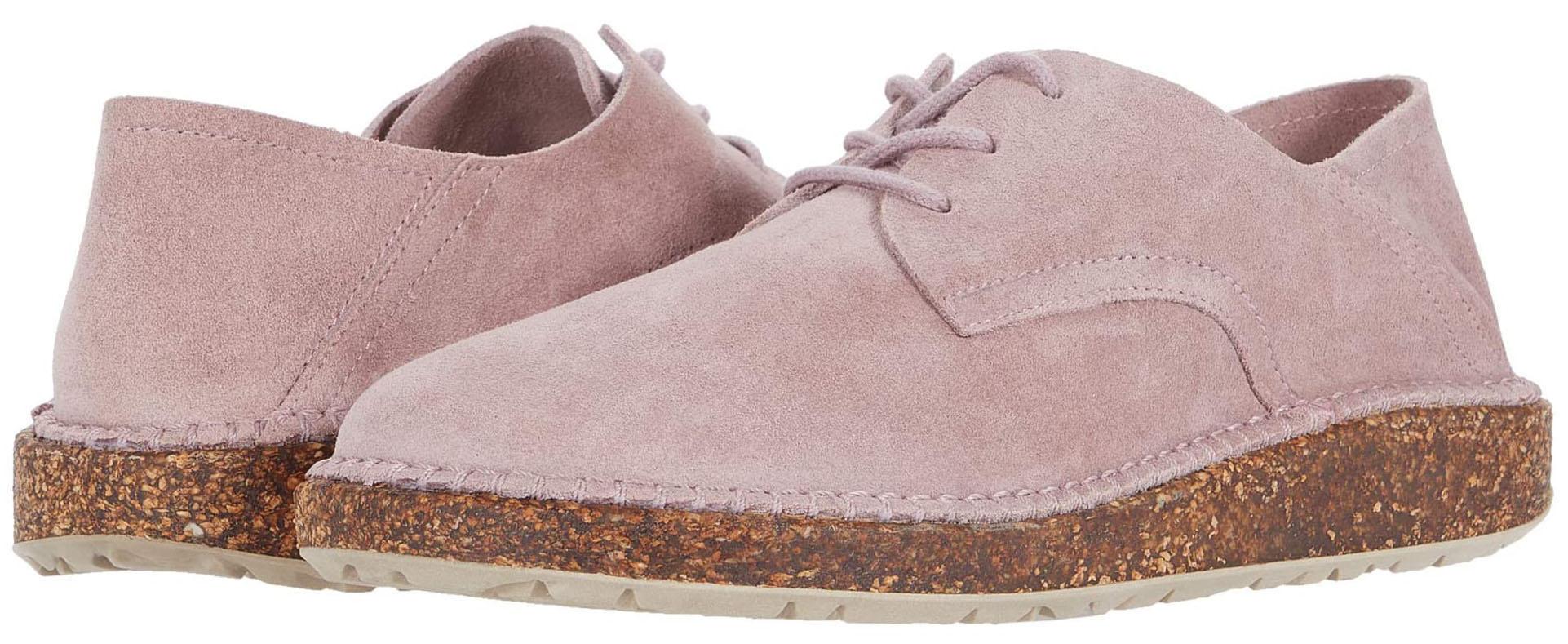 Unique, stylish and comfortable oxfords featuring Birkenstock's signature cork soles