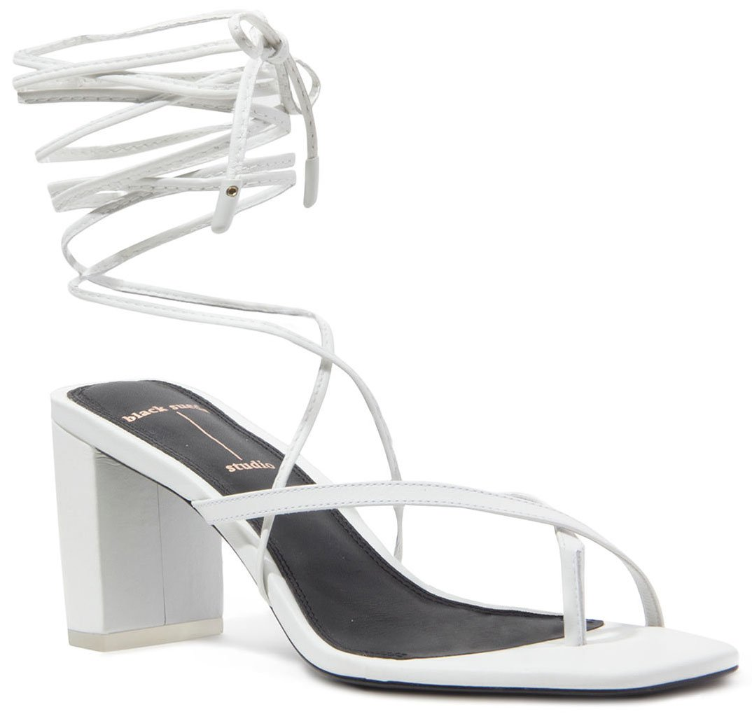 A pair of sandals with toe straps and wraparound ankle ties are one of summer's must-haves
