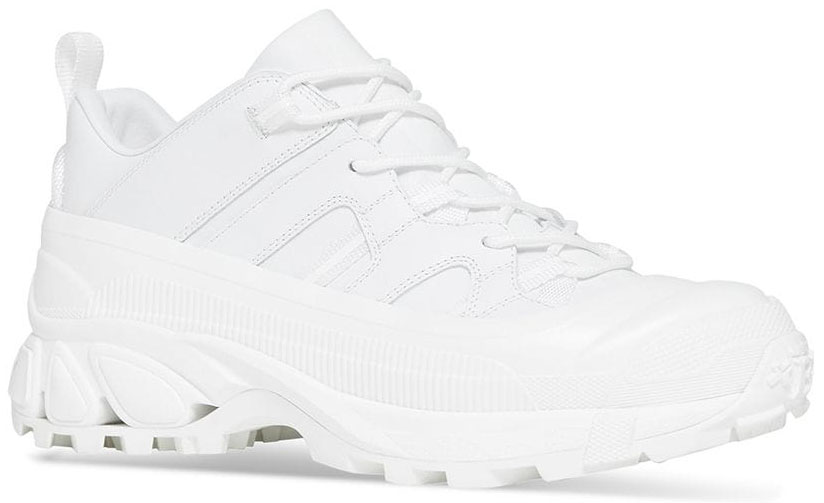 These white Burberry Arthur calf leather sneakers also prove to be a sleek addition to your casual looks