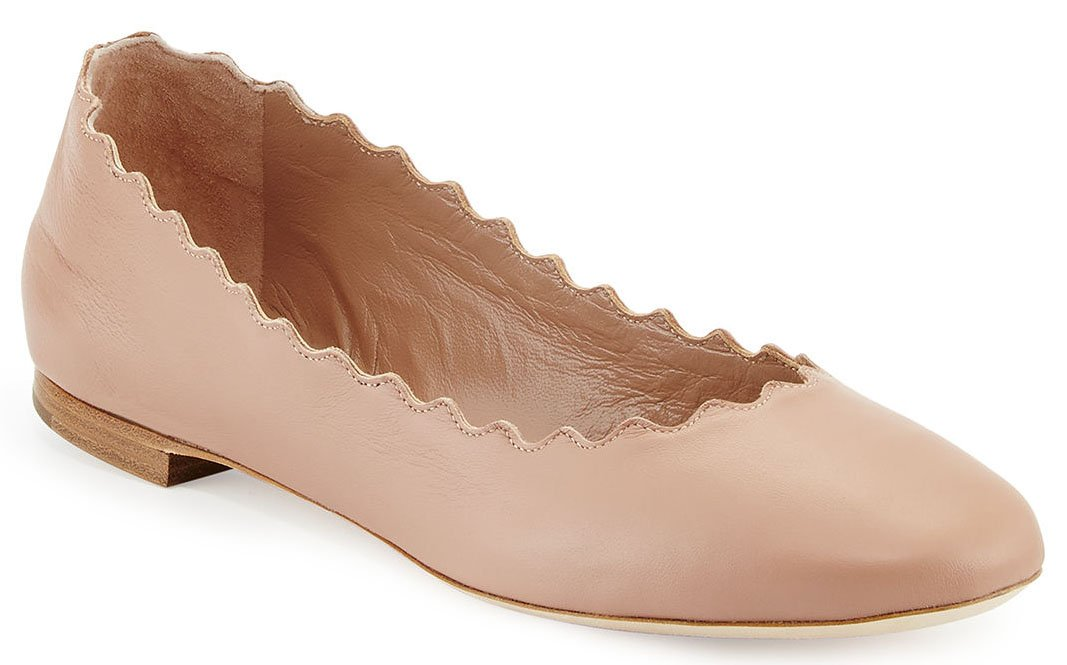 A classic pair of Chloe Lauren ballet flats are perfect with leggings no matter the season