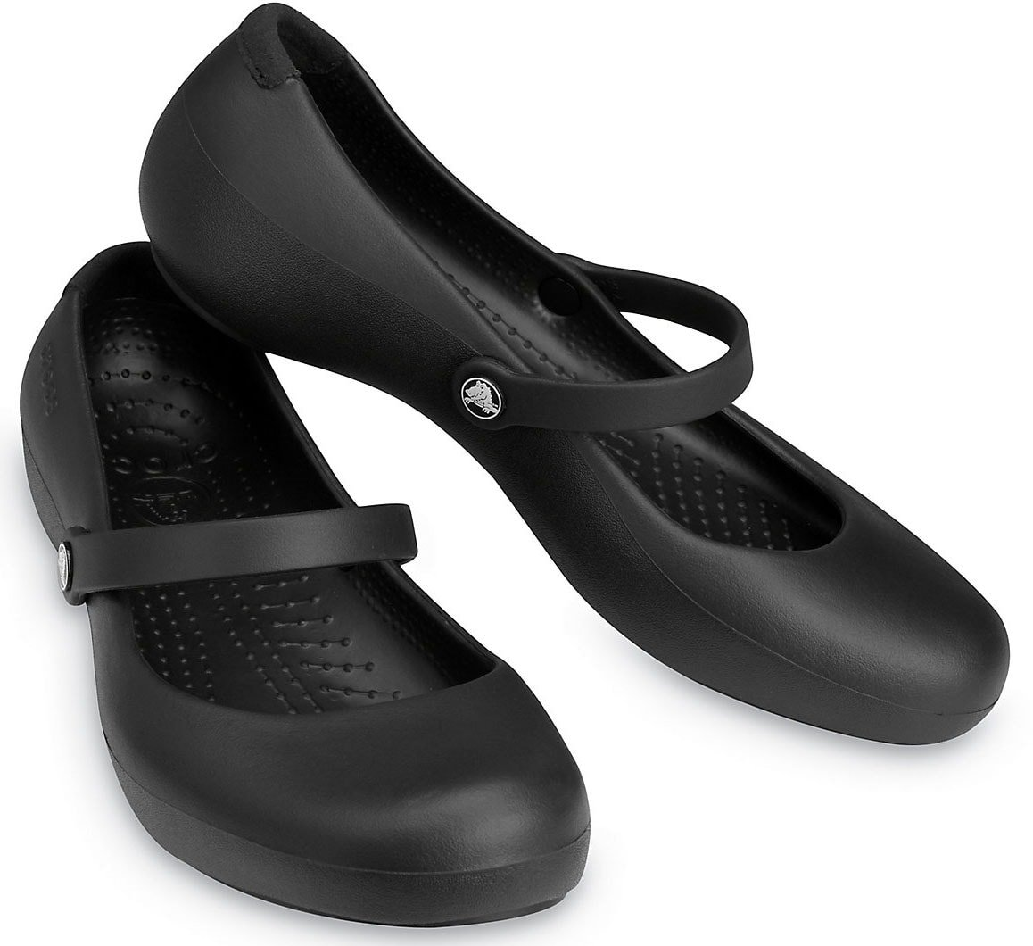 A classic and comfy pair of Crocs Mary Jane shoes for on-the-go women