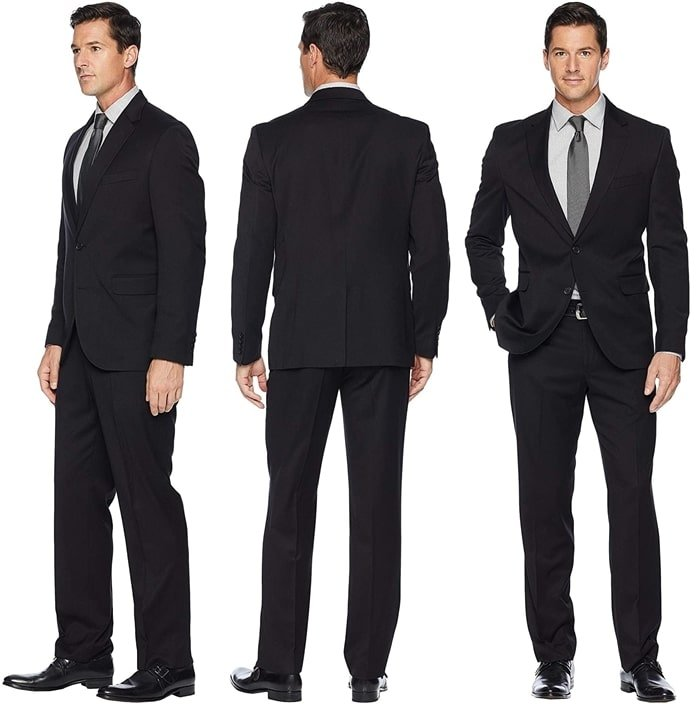 You'll never go wrong with a black pants suit like this pre-tailored Dockers suit set