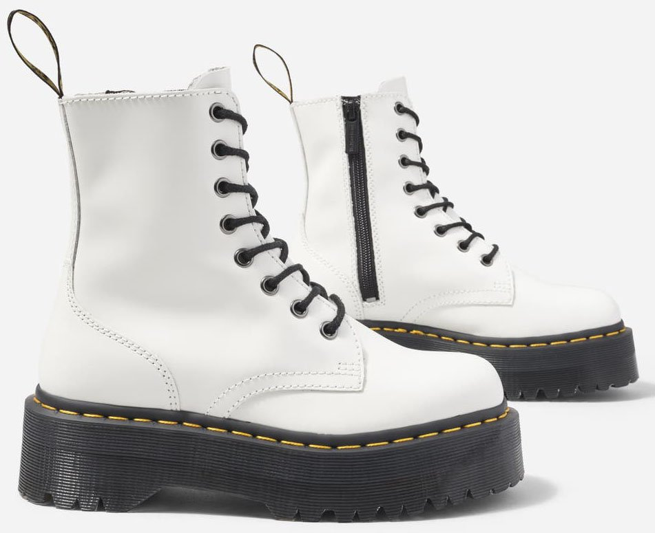 Also available in white leather, the Jadon boots are super comfy with air-cushioned soles