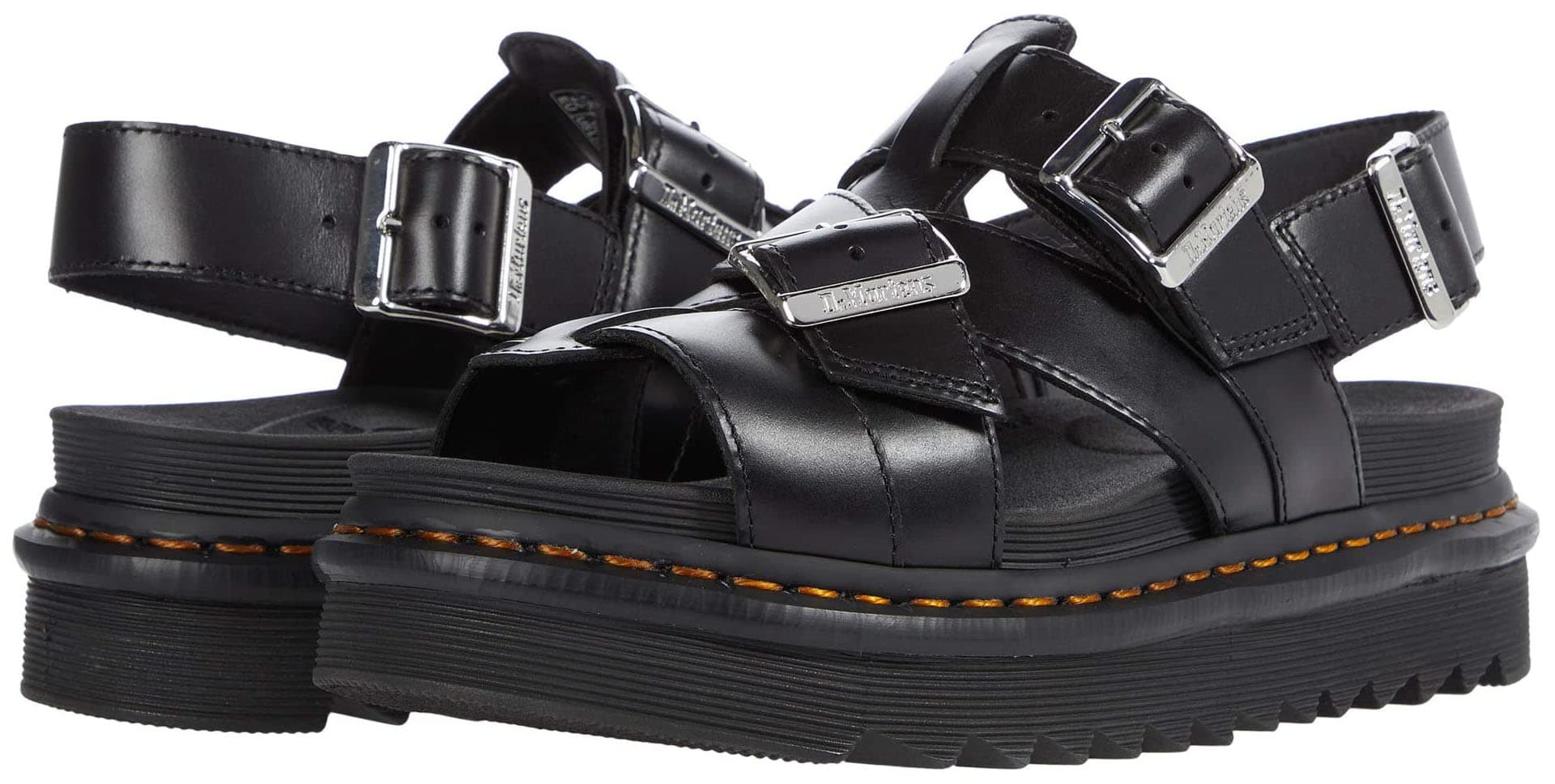Add tough-chic vibe to your summer look with strappy flatforms like Dr. Martens' Terry II sandals