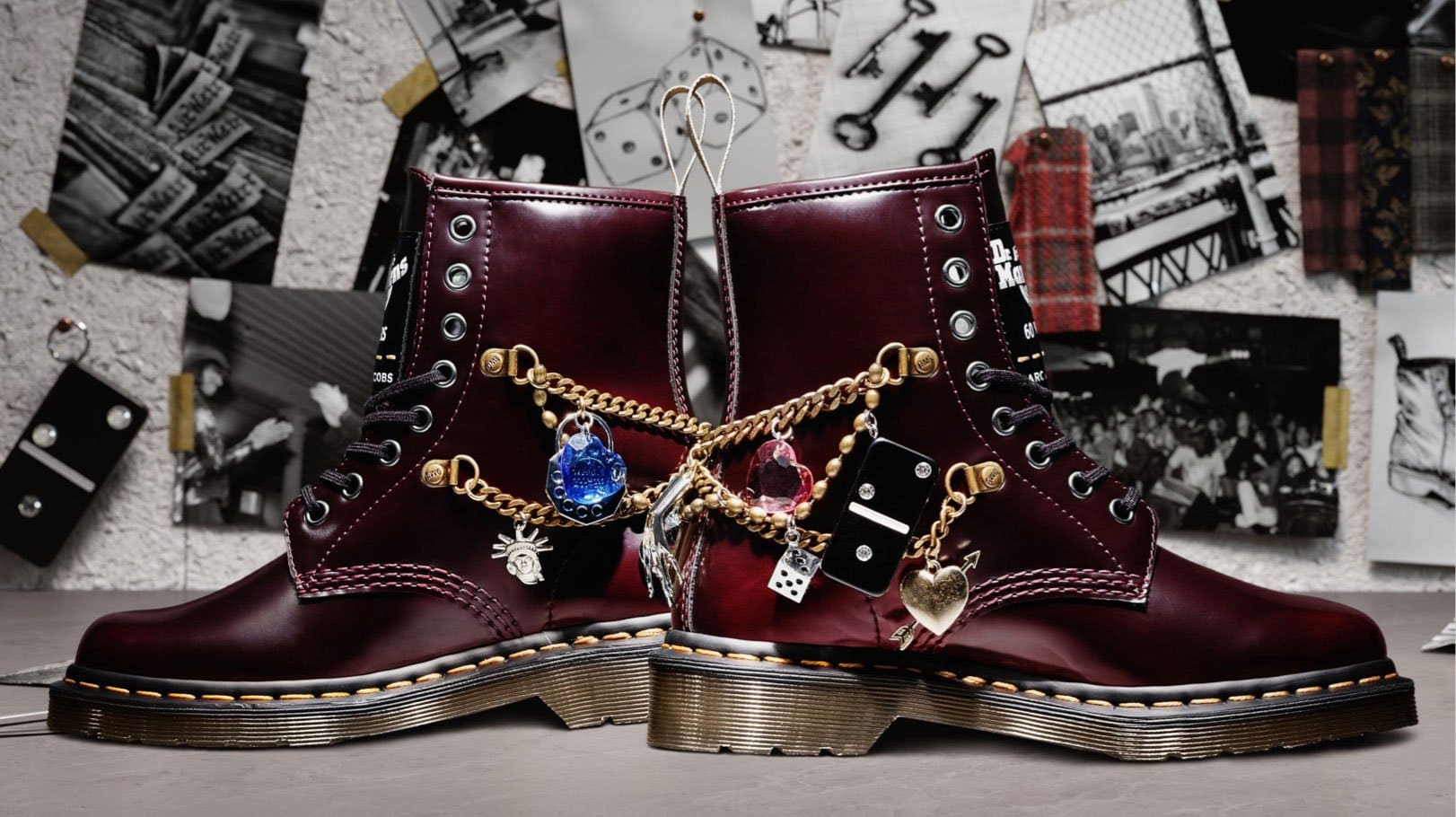 Dr. Martens and Marc Jacobs collaborated to recreate the 1460 Marc Jacobs Boot in honor of the 25th anniversary of the Perry Ellis Spring 1993 fashion show
