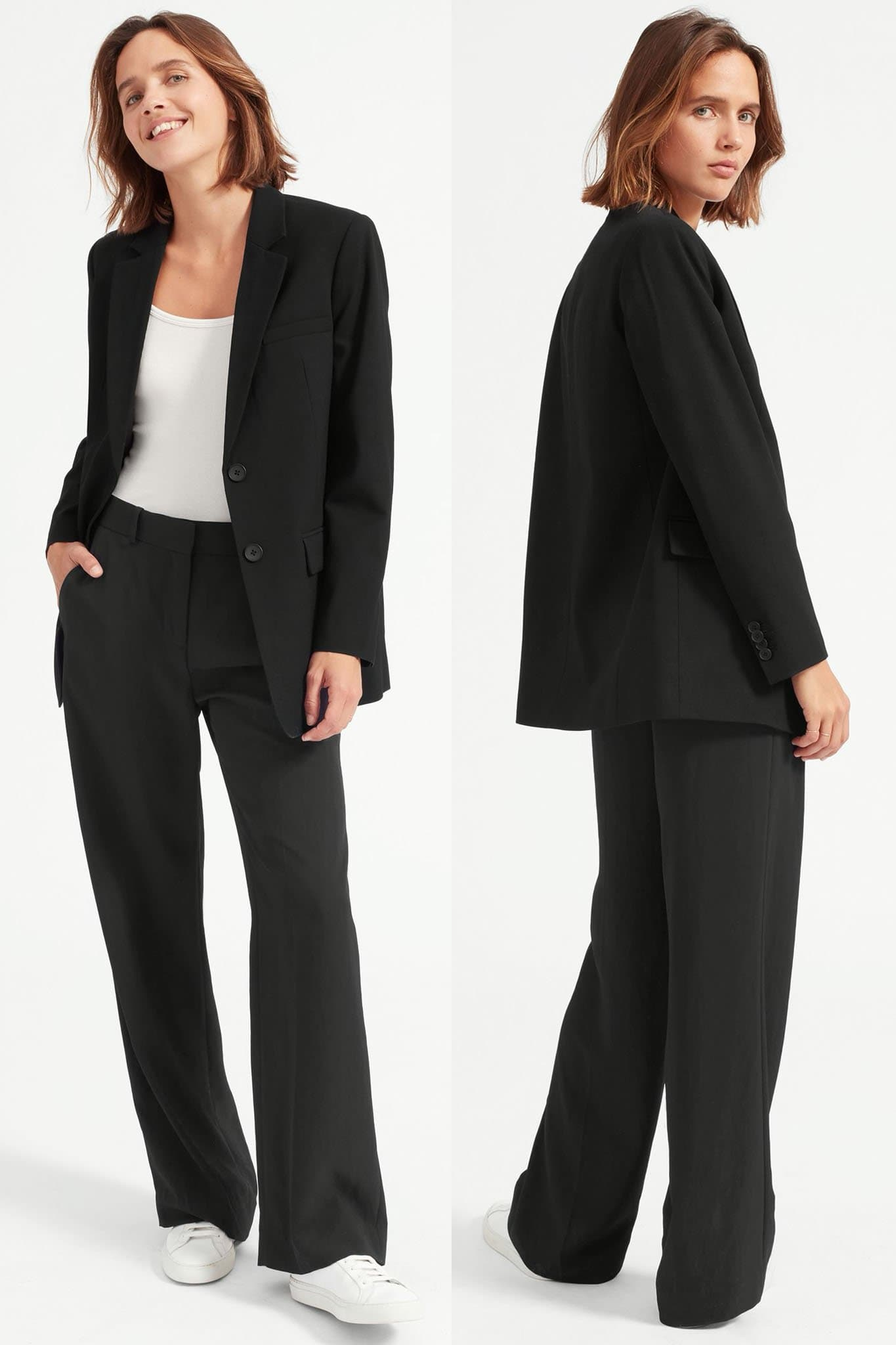 Pair their pants with oversized blazers and jackets for a chic contemporary look