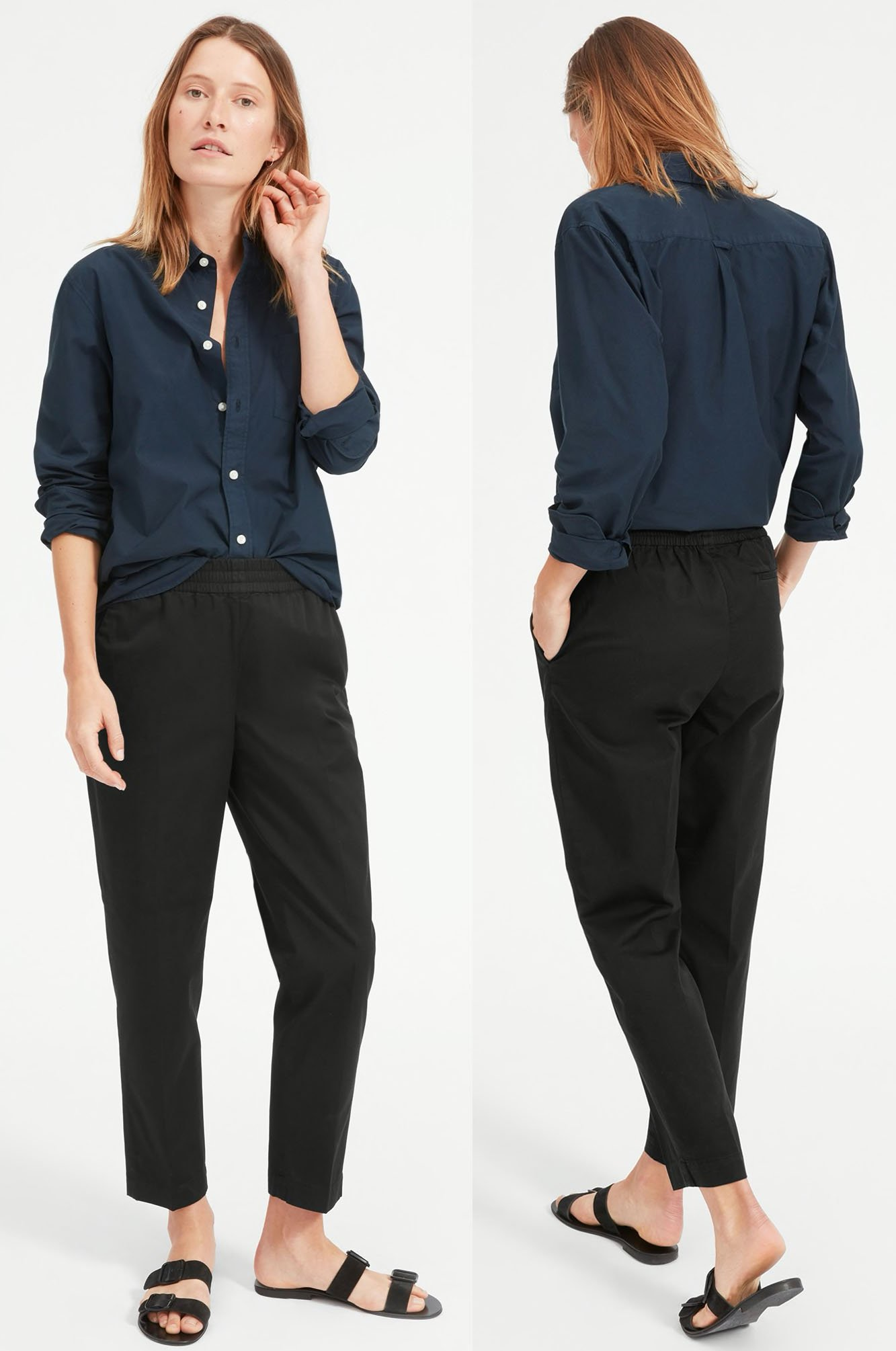 Get your modern essentials like office pants and outerwear from Everlane