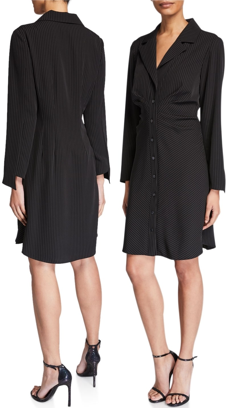 For a cheaper alternative, go with the Finley pinstripe shirtdress