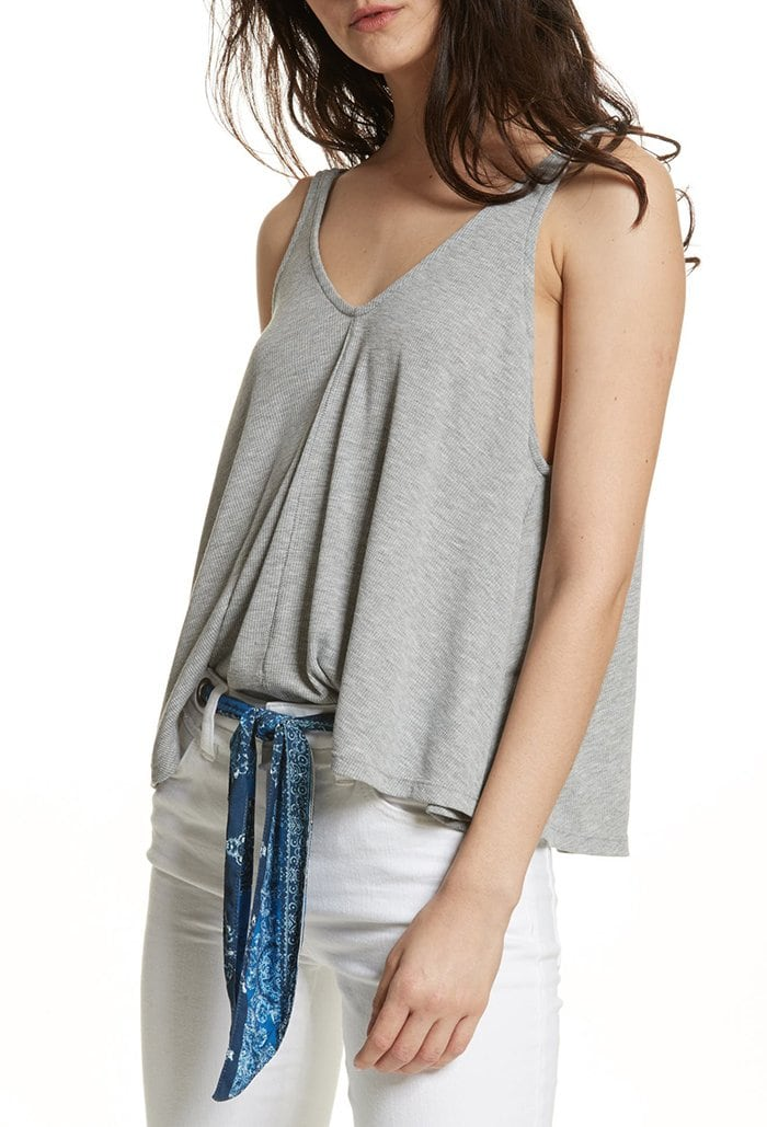 You'll be sent out of the courtroom in this low-cut swing tank top