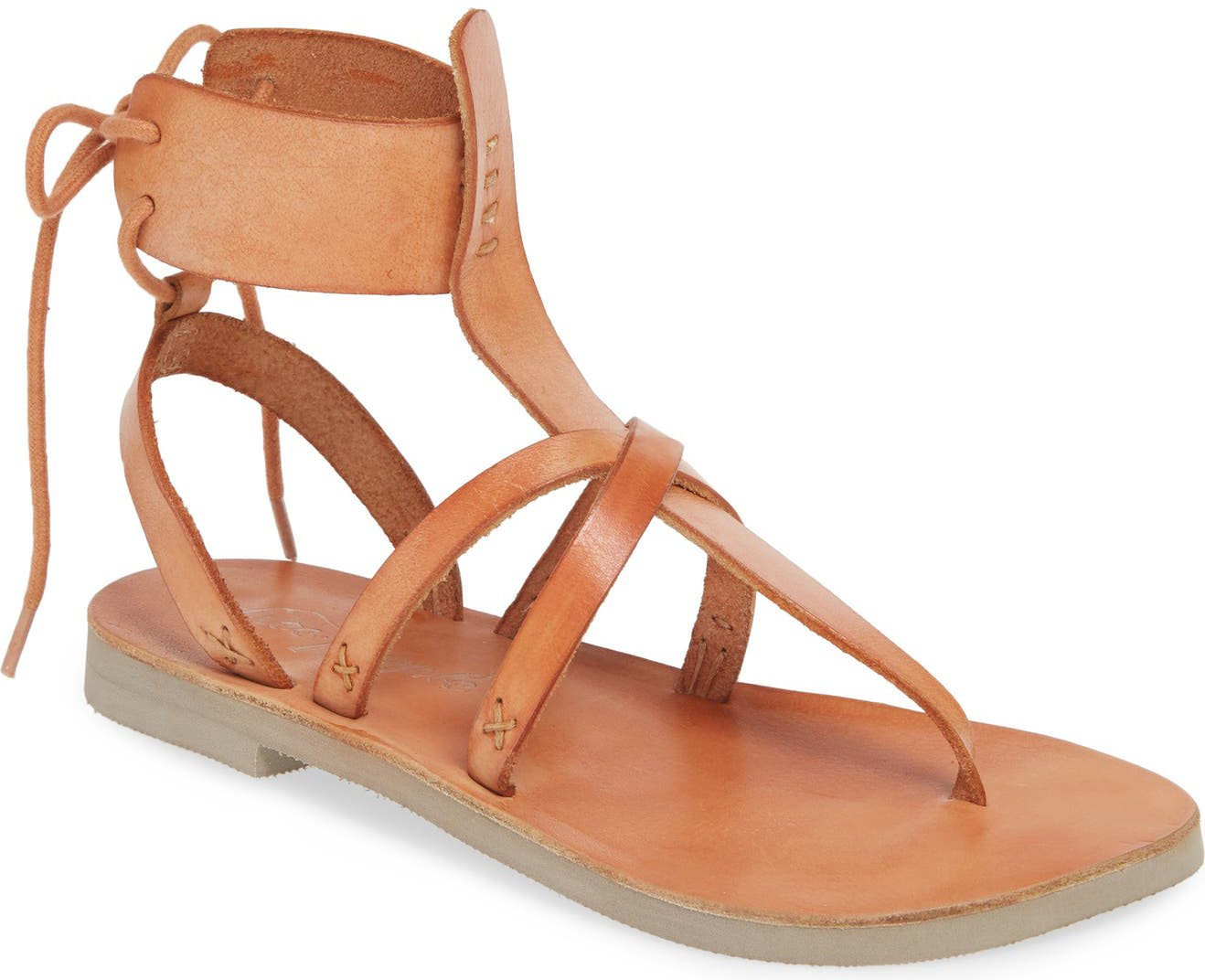 You'll never go wrong with a pair of strappy flat sandals for a comfy and chic summer look