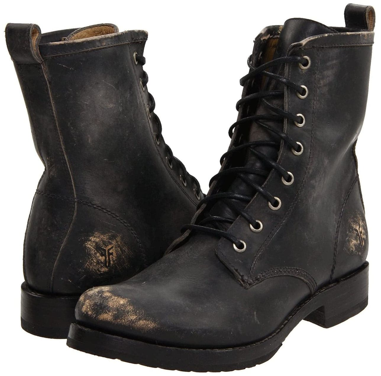 For a distressed, grungy look, opt for Frye's Veronica boots, which feature a burnished leather finish