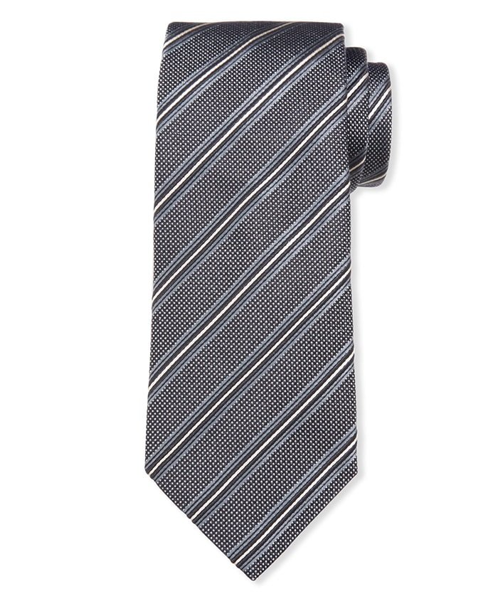 Keep your business outfit trendy with Giorgio Armani's striped tie