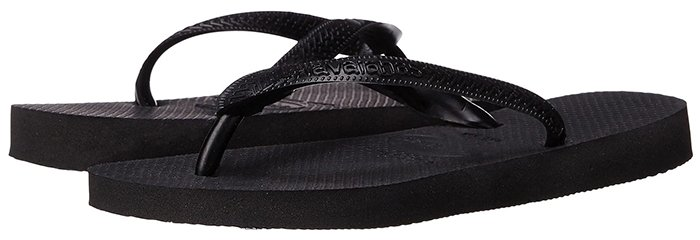 Too casual Havaianas rubber flip-flops are not suitable for any jury services