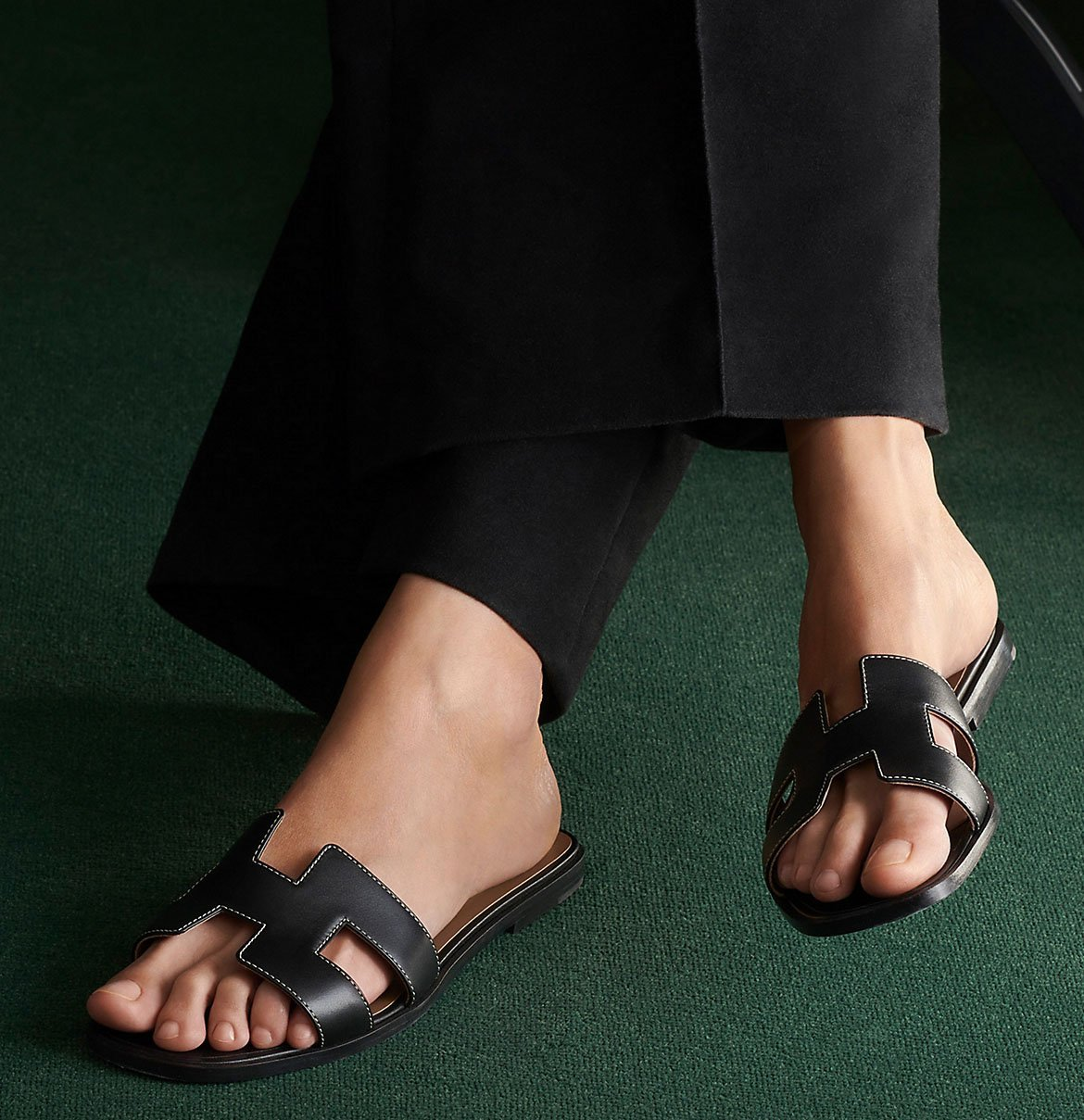 Invest in these timeless Hermes Oran sandals, which can go well with just about any dress