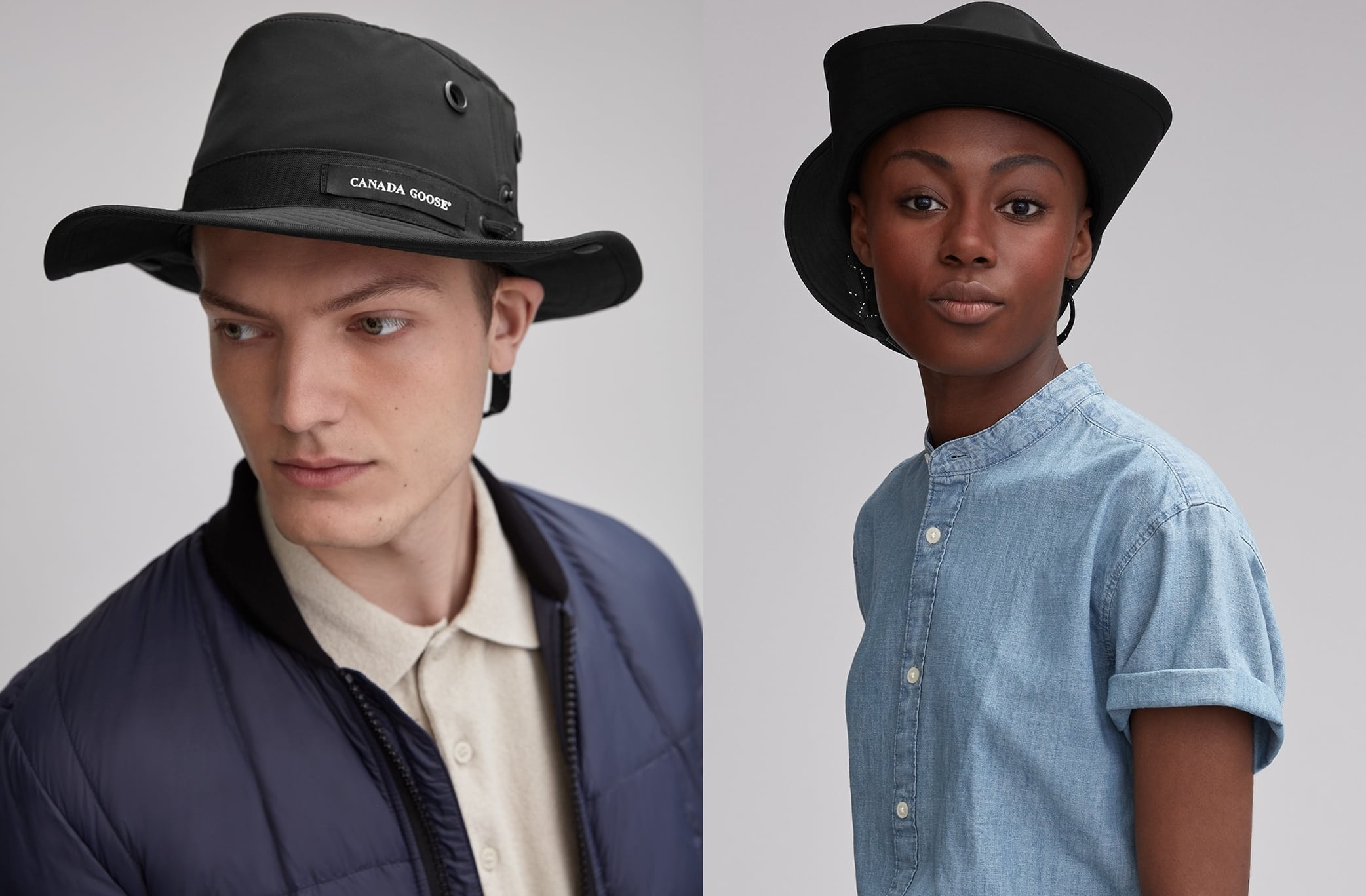 Canada Goose and Tilley partnered to create an exclusive hat with fabric to block harsh winds and rain
