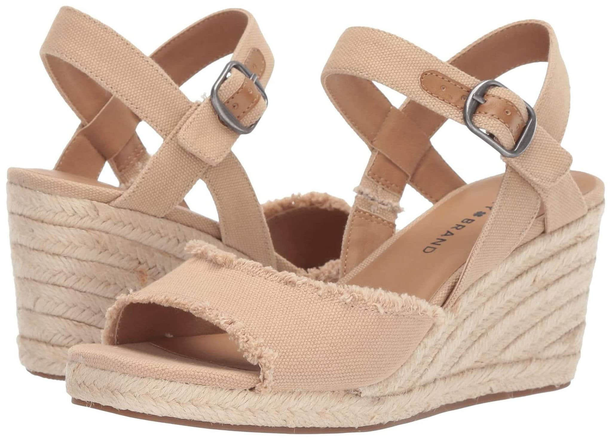 Espadrille wedge sandals work well with midi dresses for a casual yet flirty and feminine look