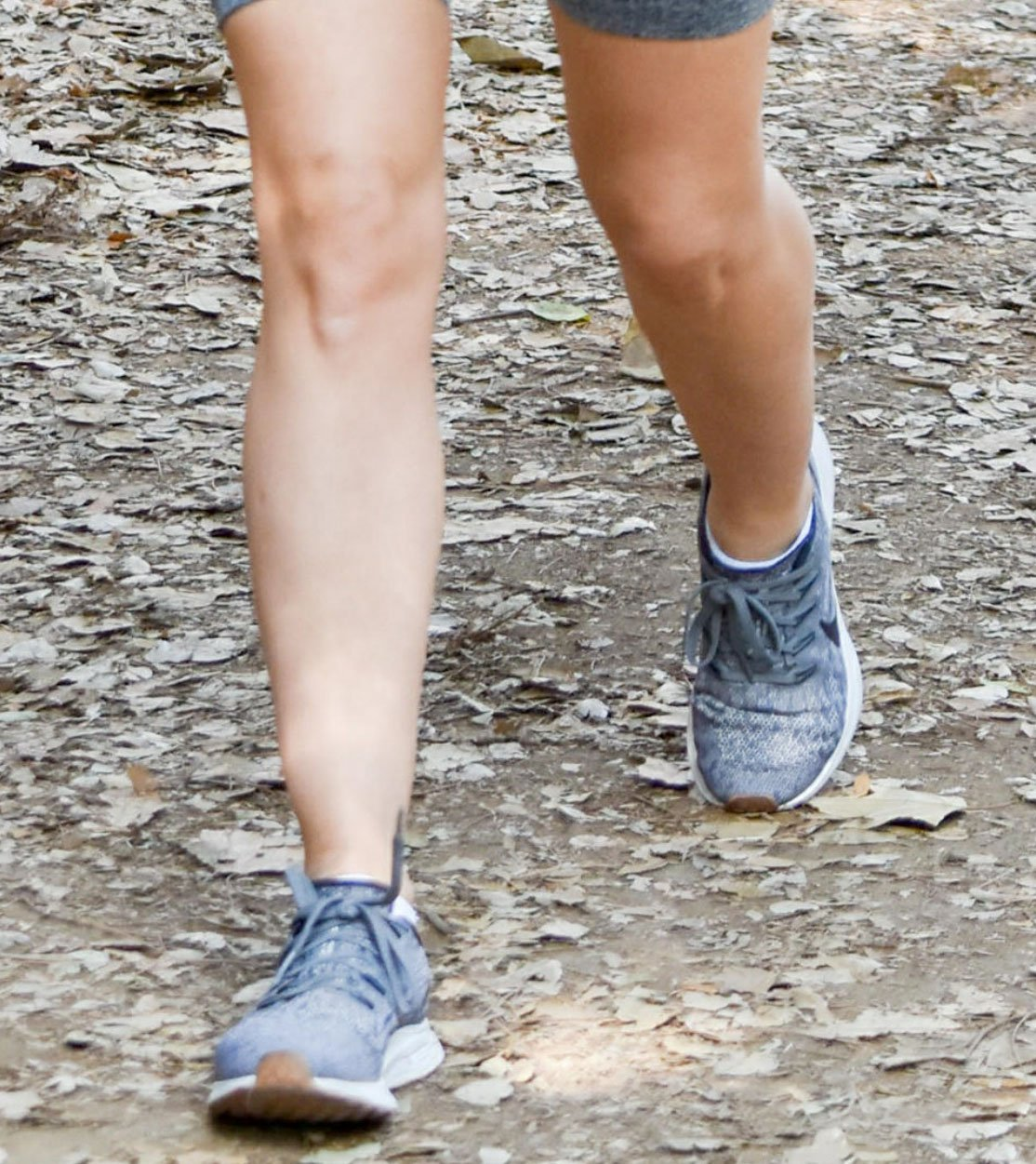 Lucy Hale wears the Nike Air Zoom Pegasus 36 for her trail hike