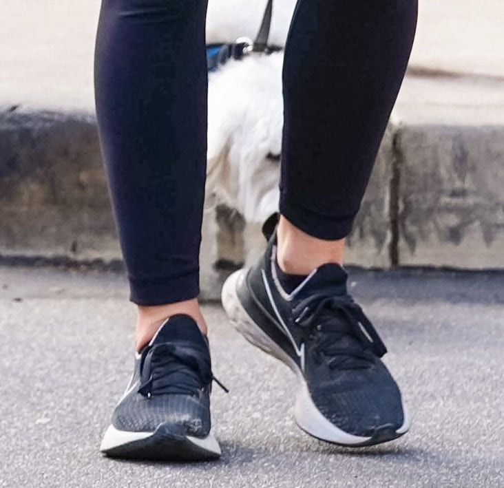 Lucy Hale completes her hiking look with Nike Renew Run shoes