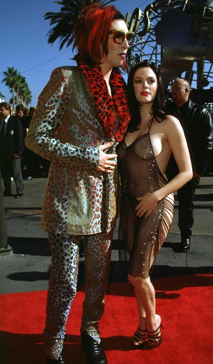 """Rose McGowan had a three-and-a-half-year relationship with rock musician Marilyn Manson that ended in 2001 over """"lifestyle differences"""""""