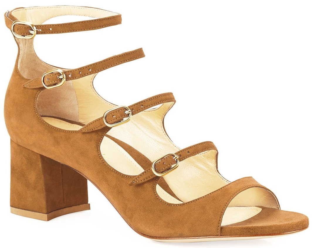 Camel-colored Marion Parke Bernadette Icon Mary Jane sandals