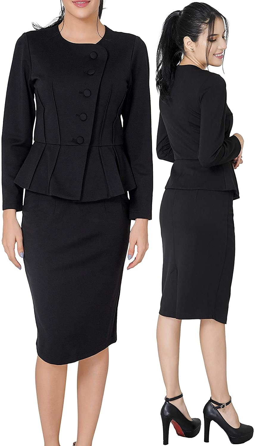A black skirt suit like Marycrafts' is also perfect for funerals