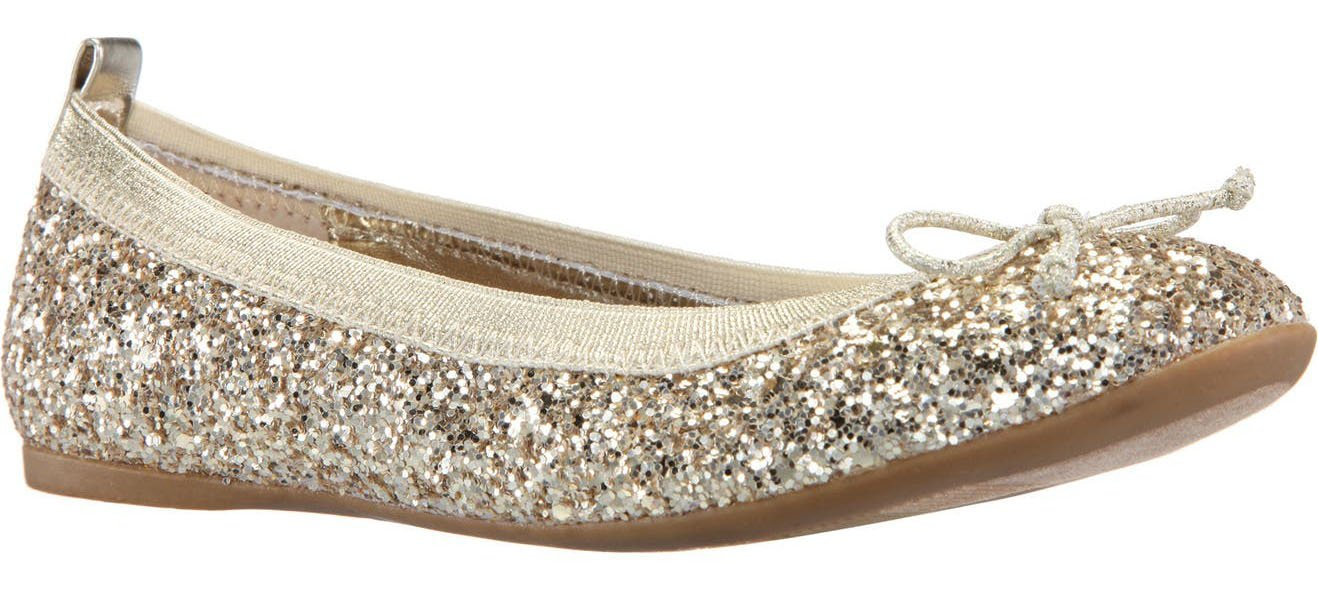 Elevate your leggings look with Nina Esther glittery ballet flats
