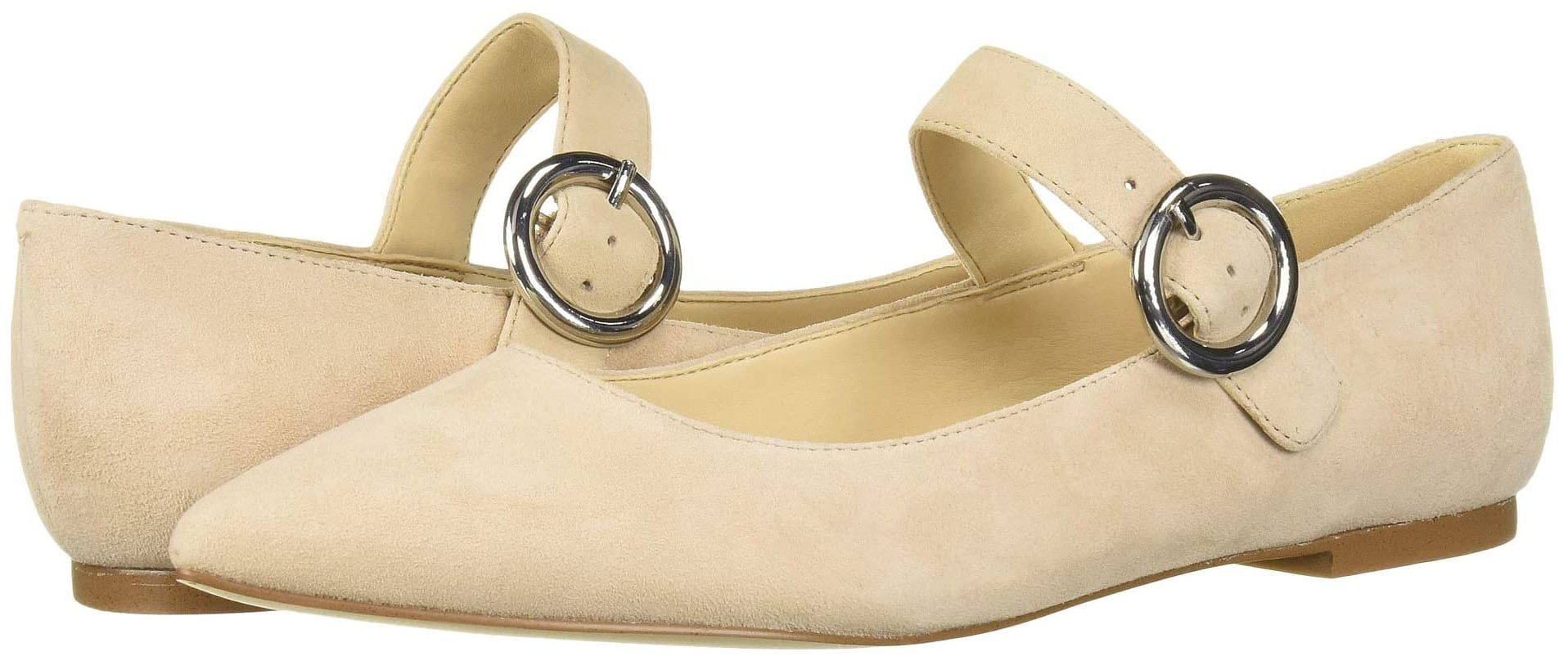 Give your look a sleek and classy finish with Nine West's Aimee Mary Jane ballet flats