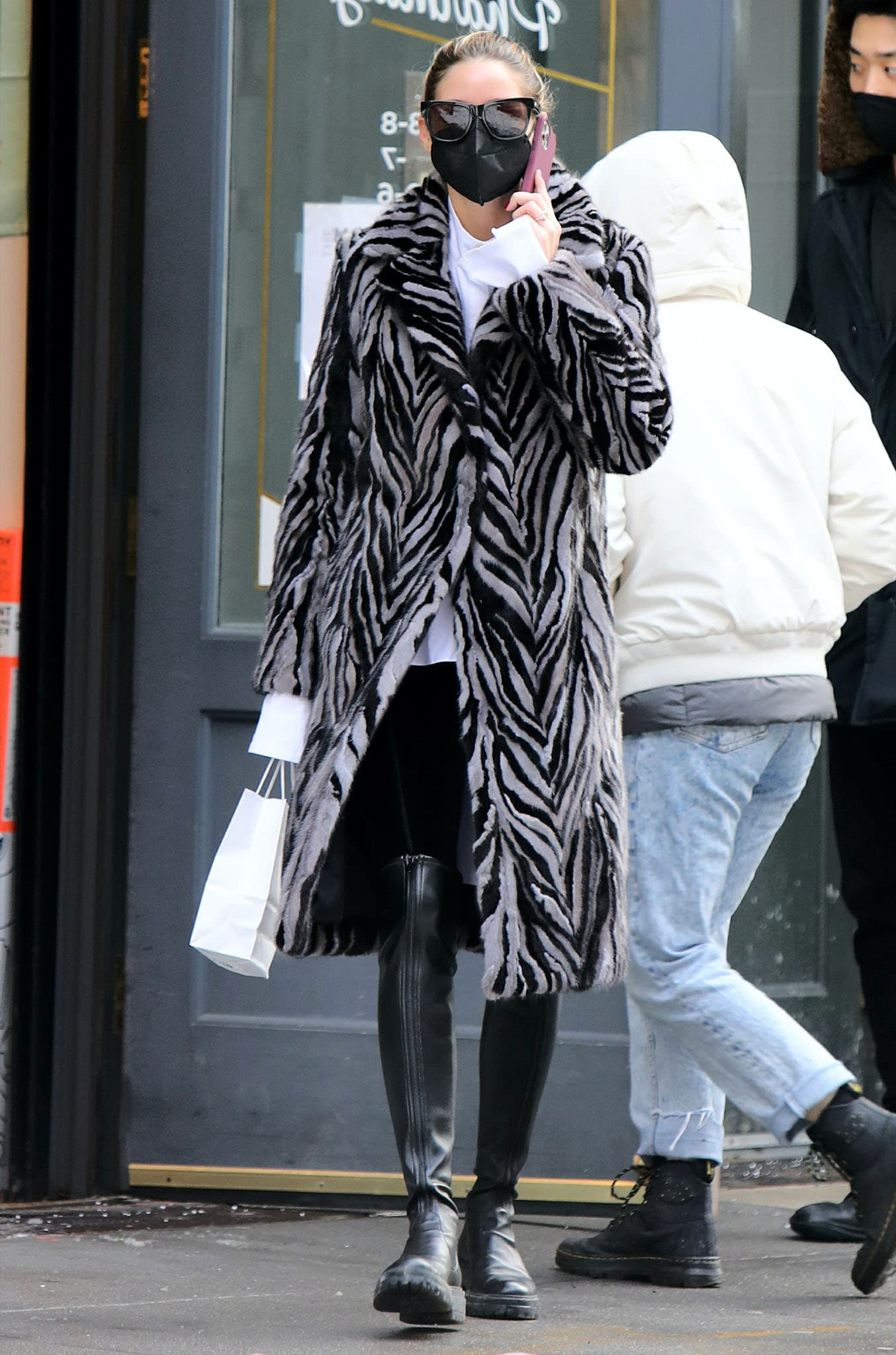 Olivia Palermo takes a solo stroll in Downtown, Manhattan on February 3, 2021