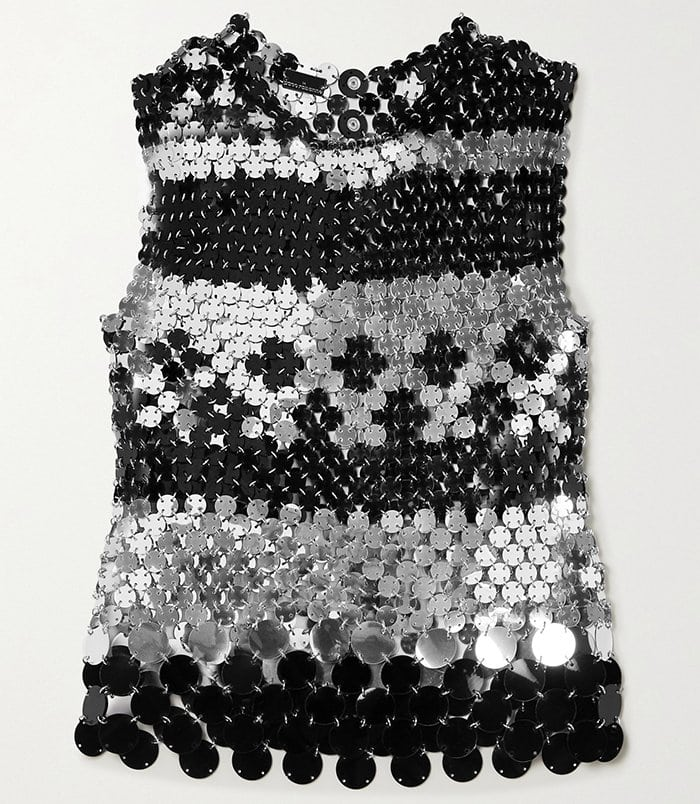 This Paco Rabanne chainmail tank is too bold for the courtroom