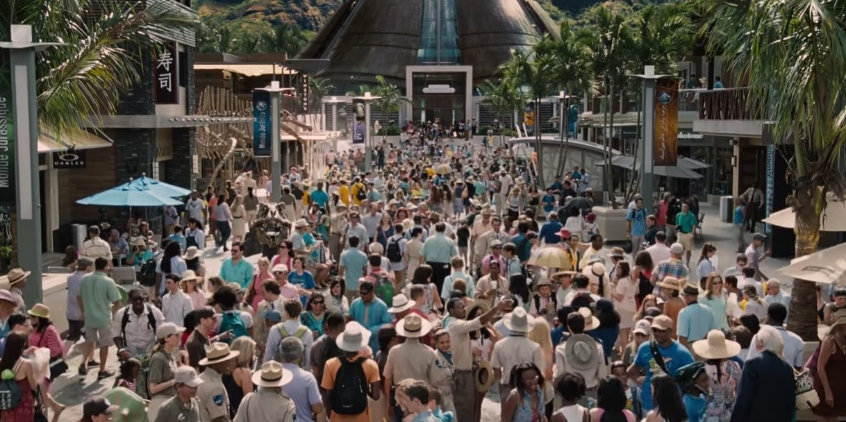This set from Jurassic World was built on the Six Flags New Orleans parking lot